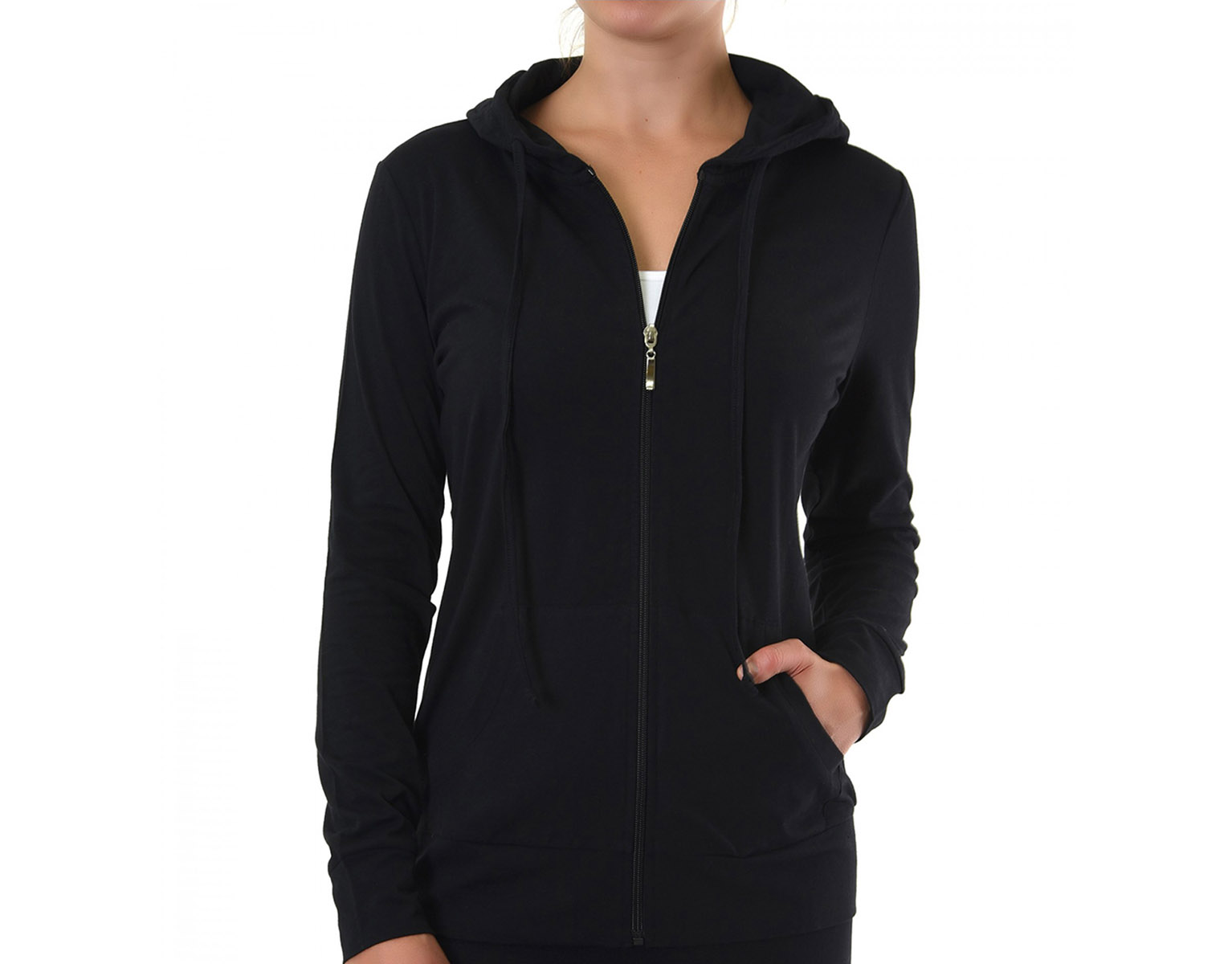size 40 807e4 364fc Women's Zip Up Active Yoga Gym Casual Thin Cotton Long Sleeve Jacket Hoodie